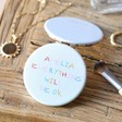Ladies' Personalised 'Everything Will Be OK' Grey Compact Mirror