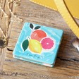 Girls Personalised Name Fruity 'Squeeze The Day' Compact Mirror