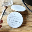 Ladies' Personalised 'You're The Best' Teacher Grey Compact Mirror
