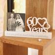 Lisa Angel Wooden '60 Years' Anniversary Photo Frame
