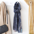 Lisa Angel Ladies' Vintage London Map Scarf in Navy