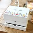 Lisa Angel Ladies' Personalised Wildflower White Jewellery Box