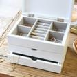 Lisa Angel Personalised Wildflower White Jewellery Box
