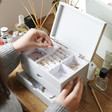 Lisa Angel Ladies' Personalised 'You Taught Me' Jewellery Box with Drawers