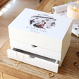 Lisa Angel Ladies' Personalised 'Your Photo' White Jewellery Box
