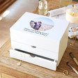 Lisa Angel Special Personalised 'Your Photo' White Jewellery Box
