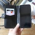 Lisa Angel Useful Black Vegan Leather iPhone XR Case and Card Holder