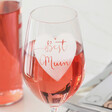 Lisa Angel 'Best Mum' Mother's Day Wine Glass