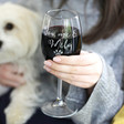Lisa Angel Funny Personalised 'You, Me & the Pet' Wine Glass