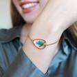 Lisa Angel Ladies' Pressed July Birth Flower Charm Bracelet in Gold