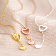 Lisa Angel Mismatched Heart Lariat necklace available in gold and silver