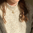 Lisa Angel Ladies' Gold Nautilus Shell Necklace on Model