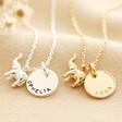 Lisa Angel Ladies' Personalised Tiny Elephant Pendant Necklace