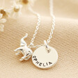 Lisa Angel Silver Personalised Tiny Elephant Pendant Necklace