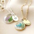 Lisa Angel Ladies' Personalised 60th Birthday Pressed Birth Flower Pendant Necklace