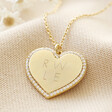 Lisa Angel Gold Personalised Diamante Crystal Heart Necklace