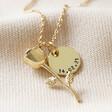 Personalised Stem Rose Pendant Necklace