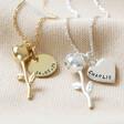 Lisa Angel Personalised Rose Stem Pendant Necklace