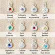 Lisa Angel Hypoallergenic Tiny Sterling Silver Birthstone Charm