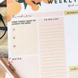 Ladies' Brew Norfolk Peachy A4 Weekly Planner Pad
