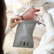 Handy Lisa Angel Unisex Personalised Initials Small Cotton Face Mask Bag