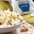 Simply salted popcorn from popcorn kitchen in a bowl