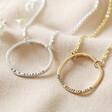 Lisa Angel Ladies' Hand-Stamped Personalised Sterling Silver Organic Style Hoop Necklace