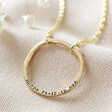 Lisa Angel Personalised Gold Sterling Silver Organic Style Hoop Necklace