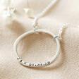 Lisa Angel Ladies' Personalised Sterling Silver Organic Style Hoop Necklace
