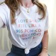Lisa Angel Unisex Personalised Rainbow 'If Love Doesn't Feel Like...' T-Shirt on Model