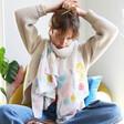 Model wearing Lisa Angel Wildflower Recycled Scarf