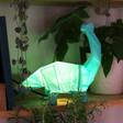 Lisa Angel Kids Disaster Designs Nordikka Green Origami Diplodocus Dinosaur Lamp