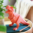 Lisa Angel Kids Disaster Designs Nordikka Orange Origami T-Rex Dinosaur Lamp