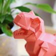 Lisa Angel Disaster Designs Nordikka Orange Origami T-Rex Dinosaur Lamp