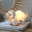 Lisa Angel Kids Disaster Designs Nordikka White Origami Triceratops Dinosaur Lamp