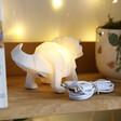 House of Disaster Mini White LED Triceratops Dinosaur Lamp at Lisa Angel