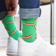 Green Bacon Design Breakfast Socks