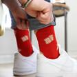 Red Toast Design Breakfast Socks