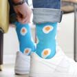 Blue Eggs Design Breakfast Socks