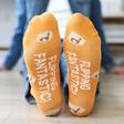 Pancakes Design Breakfast Socks Sole Quote