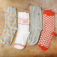 Set of Four Pairs of Pizza Socks Gift Set