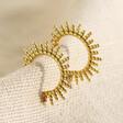 Lisa Angel Ladies' Gold Sterling Silver Sunbeam Hoop Earrings