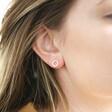 Sterling Silver Crystal Circle Stud Earrings as Worn