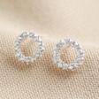 Lisa Angel Ladies' Sterling Silver Crystal Circle Stud Earrings