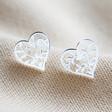 Lisa Angel Ladies' Sterling Silver Family Tree Heart Stud Earrings
