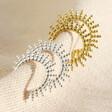 Lisa Angel Sterling Silver Sunbeam Hoop Earrings