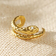 Lisa Angel Ladies' Tiny Gold Sterling Silver Snake Ear Cuff