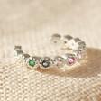 Lisa Angel Ladies' Tiny Sterling Silver Rainbow Crystal Ear Cuff