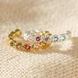Lisa Angel Tiny Sterling Silver Rainbow Crystal Ear Cuffs