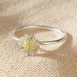 Lisa Angel Ladies' Sterling Silver Daisy Ring